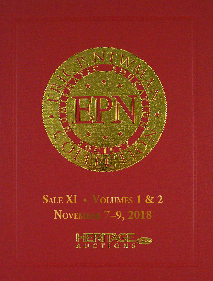 THE ERIC P. NEWMAN COLLECTION. SALE XI: PARTS 1 & 2: COINS, MECHANICAL DEVICES BOOKS AND DOCUMENTS, INCLUDES WASHINGTON GOLD PIECE CATALOGUE; Pre-Order of Sale XI Hardcover Edition-Dark Red Cover Variant. Heritage Auctions.