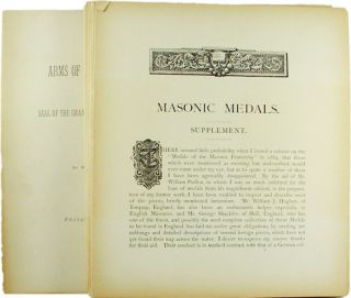 MASONIC MEDALS. SUPPLEMENT. W. T. R. Marvin
