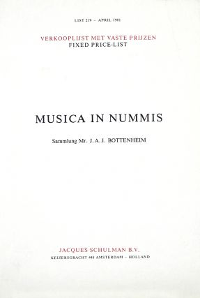MUSICA IN NUMMIS. SAMLUNG MR. J.A.J. BOTTENHEIM. List 219. Jacques Schulman