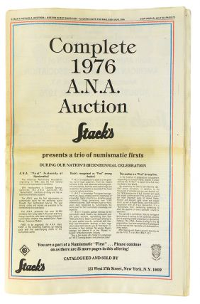 COMPLETE 1976 A.N.A. AUCTION. Stack's