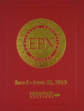 THE ERIC P. NEWMAN COLLECTION. SALE I: PATTERN COINS.; Dark Red Cover Variant. Heritage Auctions