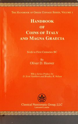 HANDBOOK OF COINS OF ITALY AND MAGNA GRAECIA. Oliver D. Hoover