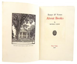 ESSAYS & VERSES ABOUT BOOKS.