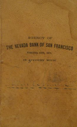 ACCOUNT BOOK. THE NEVADA BANK OF SAN FRANCISCO. Savage Mining Co