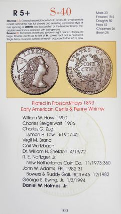 PROVENANCE GALLERY OF THE COLLECTIBLE COPPER CENT VARIETIES OF THE UNITED STATES MINT FROM THE YEAR 1794.